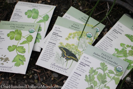 botanical Interests herb seeds