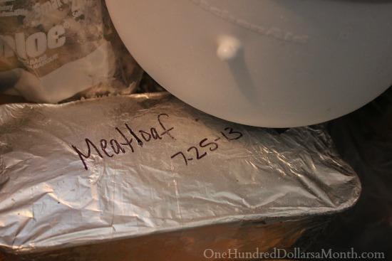 freezer meals meatloaf