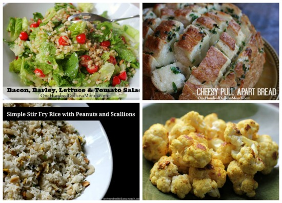 weekly menu plans salads and side dishes