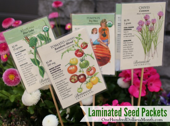 Garden Markers - Laminated Seed Packets