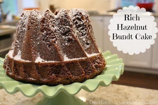 Rich Hazelnut Bundt Cake