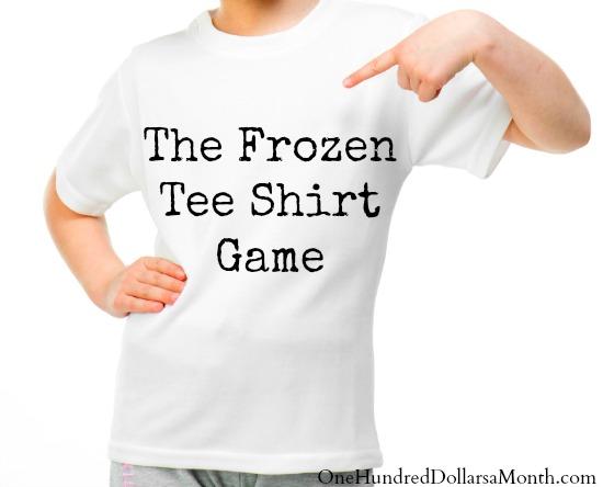 Frozen Tee Shirt Game