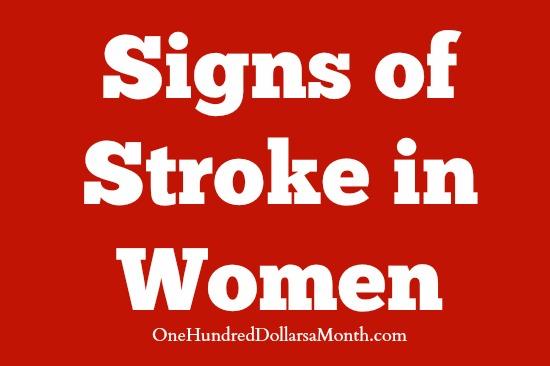Signs of Stroke in Women
