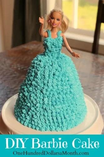 Barbie Doll Cake In Batter Bowl
