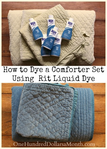 Beautiful How to Dye a Comforter Set Using a Front Load Washing Machine and Rit Liquid Dye