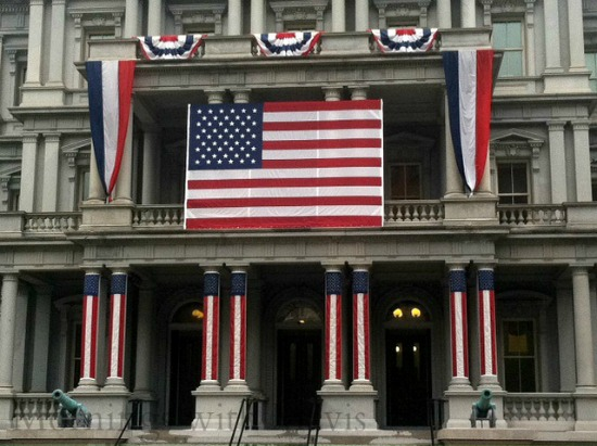 american-flags-on-building