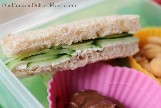 cucumber and cream cheese sandwich