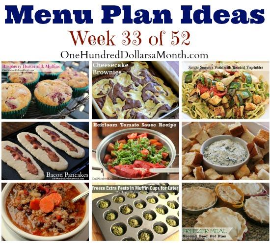 weekly meal plan menu plan ideas week 33 of 52 one hundred