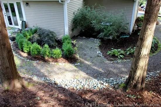 pea gravel garden path