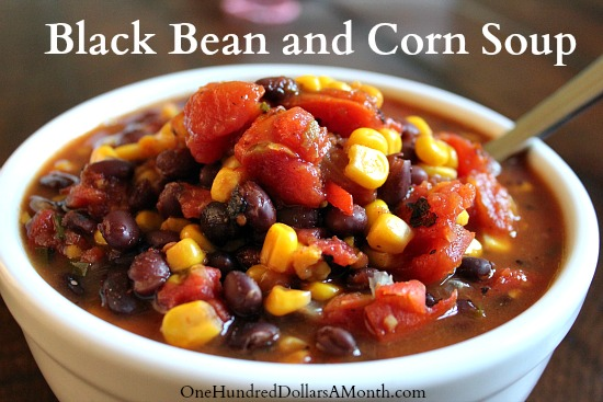 Easy-Crock-Pot-Recipes-Black-Bean-and-Corn-Soup