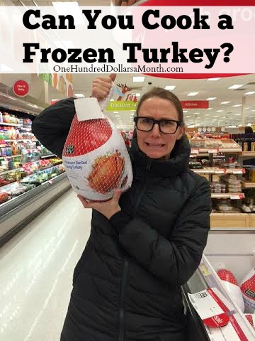can you cook a frozen turkey