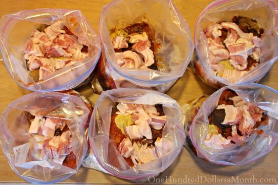 freezer meals in freezer bags