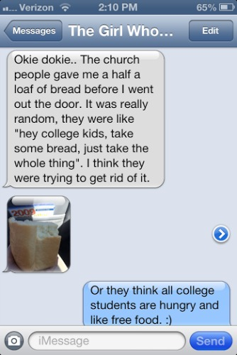 iPhone text message