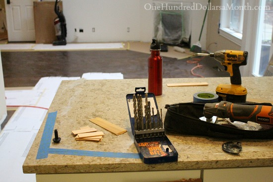 tools on counter top