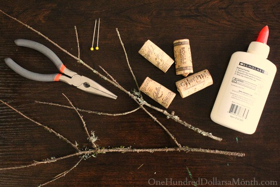 DIY Christmas Craft - Wine Cork Reindeer supplies