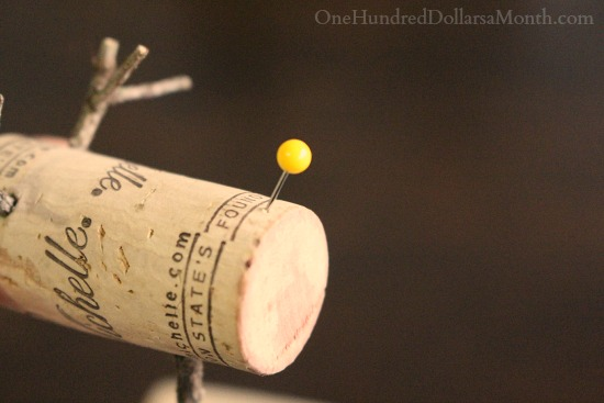 DIY Christmas Craft - Wine Cork Reindeer
