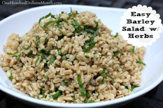 Easy Barley Salad w Herbs