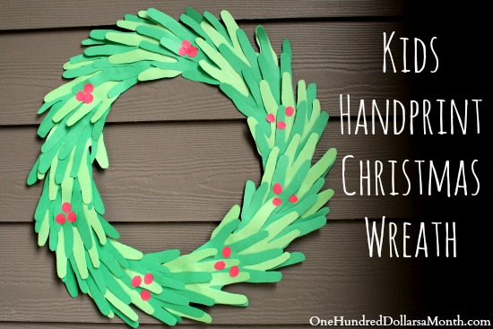 keeping the kids busy over christmas break easy diy handprint