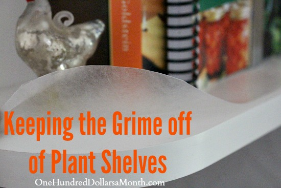 Keeping the Grime off of Plant Shelves