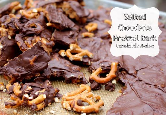 Salted Chocolate Pretzel Bark recipe