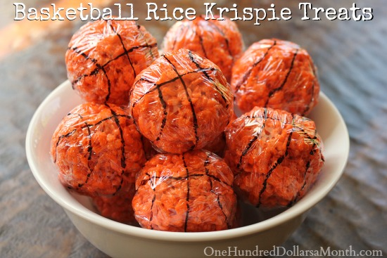 Basketball Rice Krispie Treats
