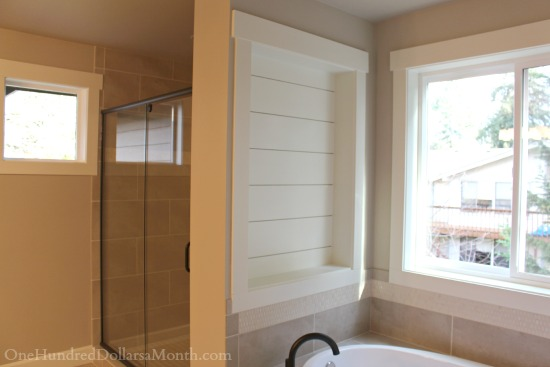 built in bathtub shelf