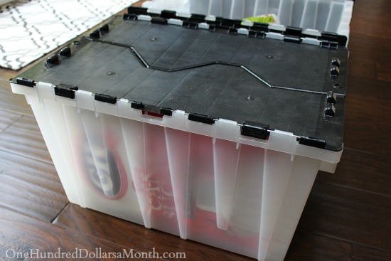 locking storage bins