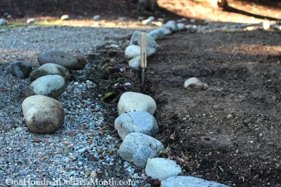 moving rock path