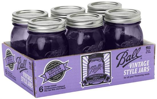 purple ball jars