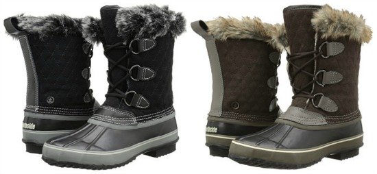 snow boot with fur collar