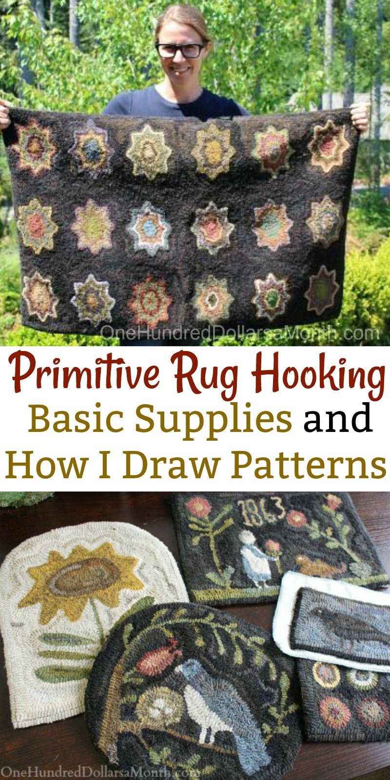 simple rug patterns. Primitive Rug Hooking \u2013 Basic Supplies And How I Draw Patterns Simple