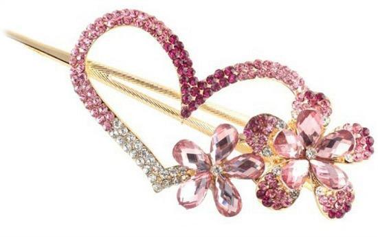 heart hairclip