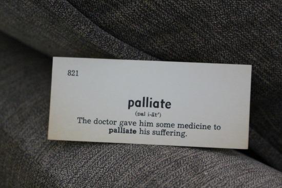palliate