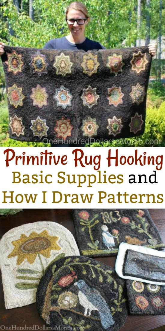 Primitive Rug Hooking Basic Supplies And How I Draw Patterns One