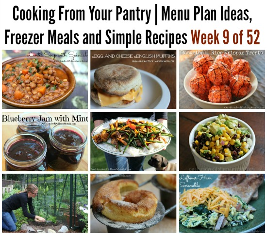Cooking From Your Pantry  Menu Plan Ideas, Freezer Meals and Simple Recipes Week 9 of 52