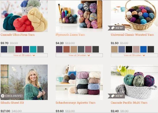 craftsy yarn sale