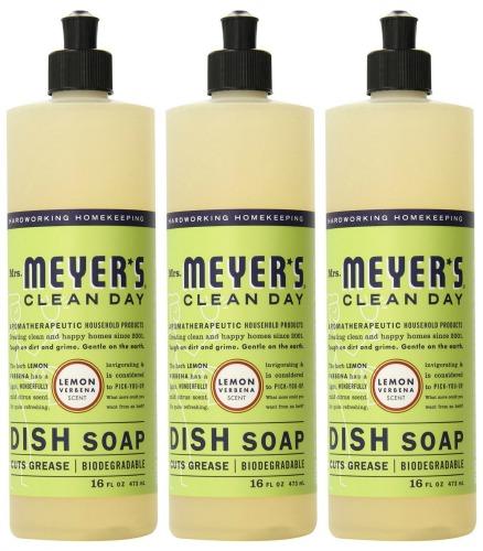Mrs. Meyers Clean Day Liquid Dish Soap, Lemon Verbena