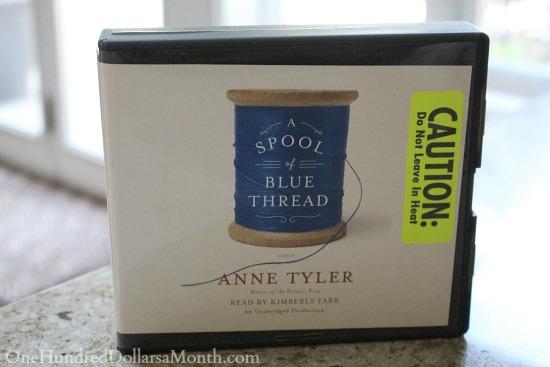 a spool of blue thread audiobook