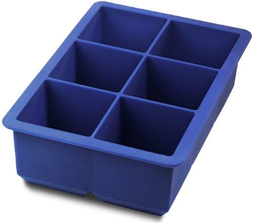 blue ice cube tray