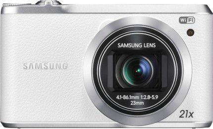 Samsung - WB380 16.3-Megapixel Digital Camera - White