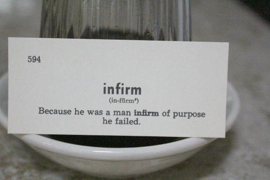 infirm