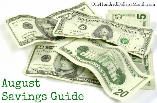 August Monthly Savings Guide