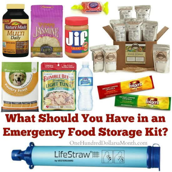 What Should You Have in an Emergency Food Storage Kit