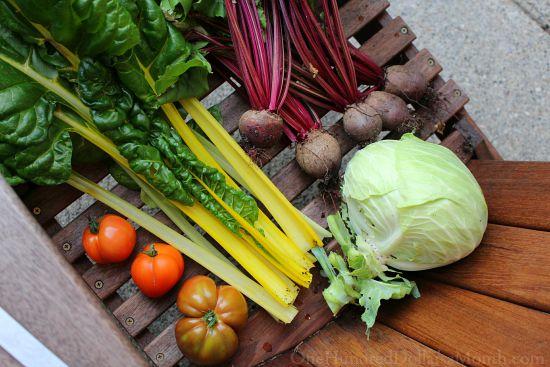 kitchen garden harvest