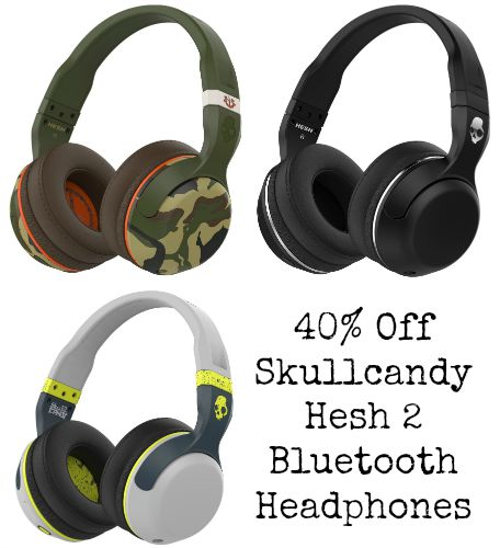 skull candy hesh 2 bluetooth headphones