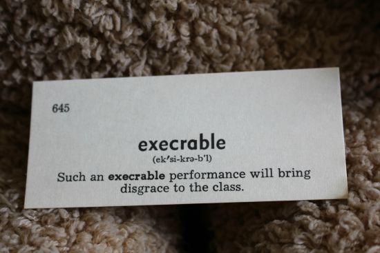 execrable