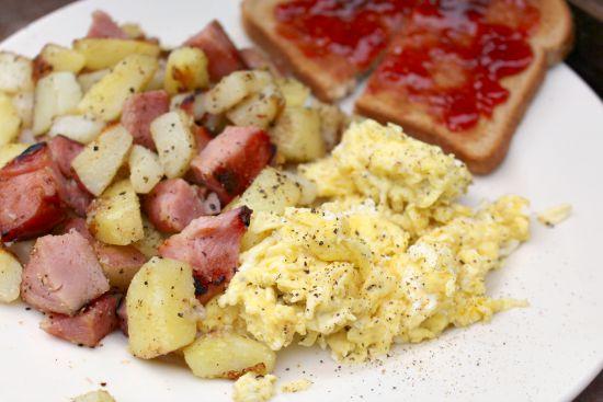 ham and potato scramble
