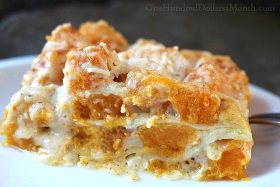 roasted butternut squash lasagna recipe