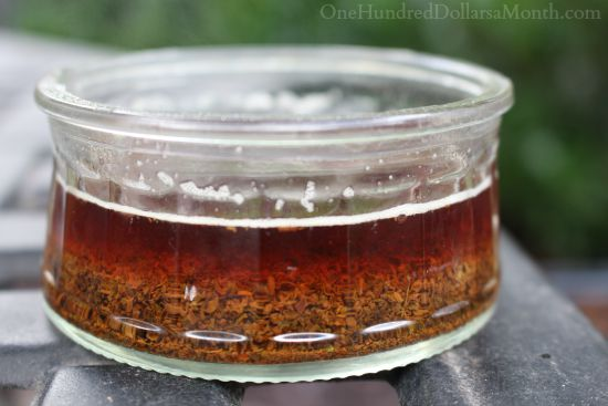 steeping earl grey tea