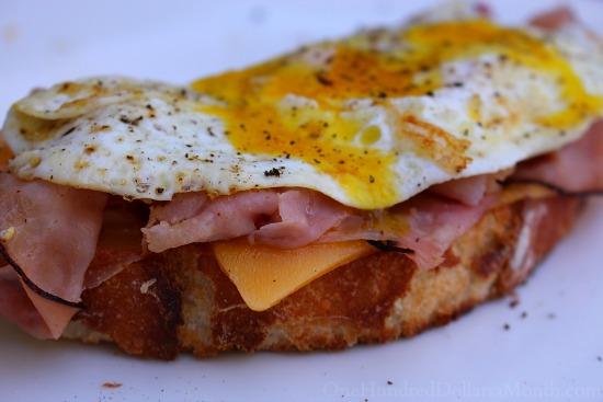 breakfast sandwich crusty bread